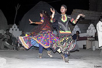 English: Rajasthani folk dance, India