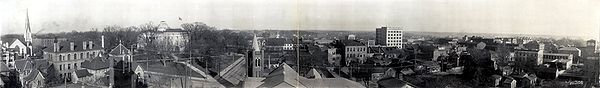 Vista panorámica do centro de Raleigh, cara a 1909