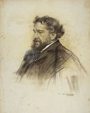 Octave Uzanne - Portrait of 1906 by Ramon Casas i Carbó from the Spanish magazine Forma