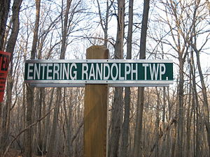 Randolph, New Jersey - Sign on Patriots Path