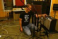 Re-amp setting, Florian, Marc Morgan album recording, LowSwing studio, Berlin, 2011-01-25 22 34 27.jpg