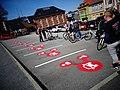 Red road logos for a Bergen Mobilpunkt station.jpg