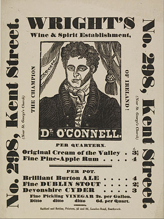 Didone (typography) - Fat face type on a poster. London, c. 1840s