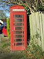 Redundant telephone kiosk, Main Street, Withernwick (geograph 5598799).jpg