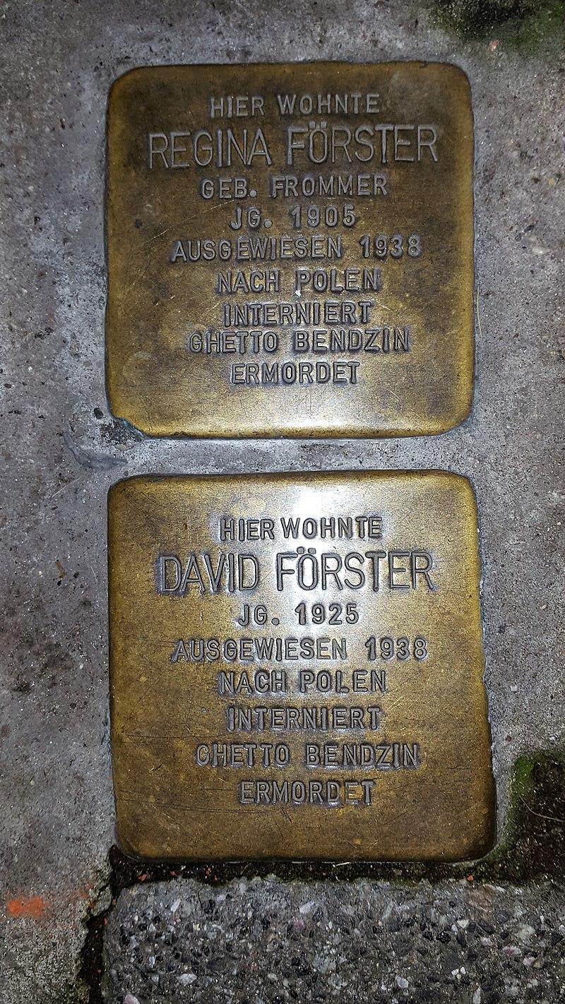 Regina Förster und David Förster, Mauergasse 14 Wiesbaden (Germany).jpg