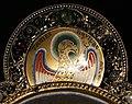 Regione mosana, cristo in maestà, 1180 ca., con i simboli degli evangelisti aggiunti nel 1870 quando fu tarsformato in spilla da piviale 03 giovanni.jpg