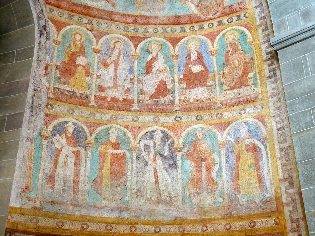 Klosterinsel Reichenau St.Peter und Paul - Fresken Apsis (Süden)