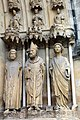 Reims, cathedral, sculptures on the portal of the northern side.JPG