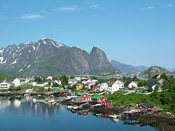 View of Reine in Moskenes