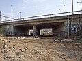 Reko TT Nádraží Holešovice - Trojská, trať pod mostem nádraží.jpg