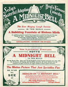 Release flier for A MIDNIGHT BELL, 1913 (Page 1).jpg