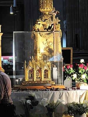 Relicário na Igreja de São Sulpício, em Paris