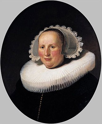 Oval Portrait of a Woman (Rembrandt, New York) - Image: Rembrandt, Portrait of Maertgen van Bilderbeecq, 1633, Städel, Frankfurt am Main