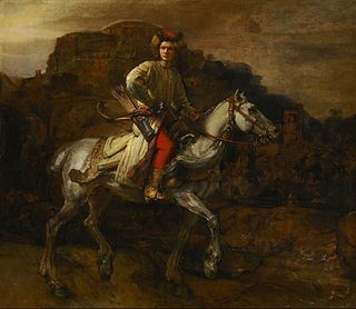 <i>The Polish Rider</i> painting by Rembrandt