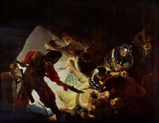 Rembrandt Harmensz. van Rijn 041レンブラント『目をえぐられるサムソン』1636年