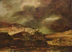 Rembrandt: Stormy Landscape