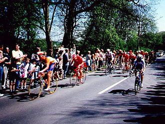 Eschborn-Frankfurt – Rund um den Finanzplatz - Peloton during the race in Kronberg im Taunus