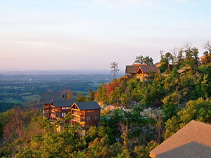 English: Rental cabins near the Great Smoky Mo...