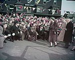 Residents welcome Princess Elizabeth and the Duke of Edinburgh on their visit to Amherst, Nova Scotia .jpg