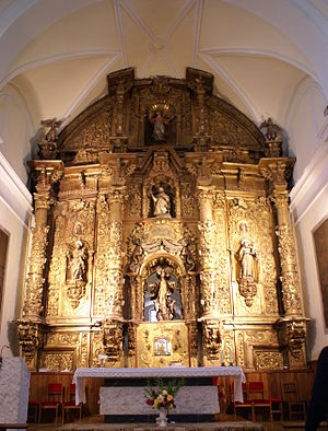 Campaspero - Altarpiece of the Santo Domingo of Guzmán church.