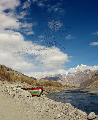 Gulmit - Retreating Attabad lake at Gulmit