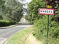 Rhodes (Moselle) city limit sign.jpg