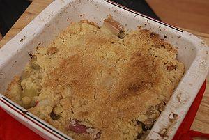 Crumble - Rhubarb crumble