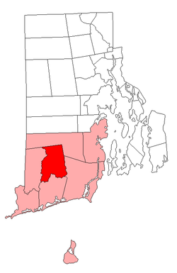 Location of Richmond in Washington County, Rhode Island