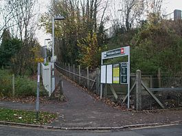 Riddlesdown station east entrance.JPG