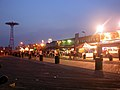 Riegelmann Boardwalk at night 2005.jpg