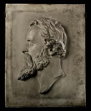 William Henry Rinehart - Self-portrait relief bust (c. 1850–74).