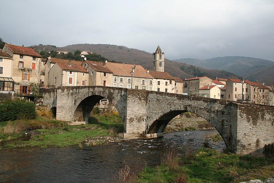 Riols (Hérault) - Pont vieux sur le Jaur.