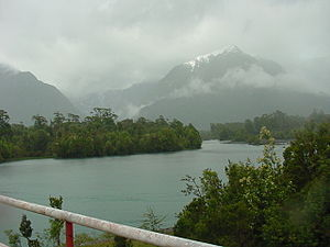 Corcovado National Park (Chile) - View of Yelcho River in the park