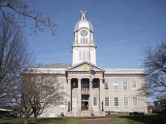 Harrisville, West Virginia - The Ritchie County Courthouse in Harrisville in 2007