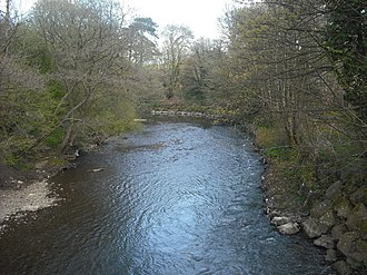 Rhymney River - The river in its lower reaches, as it passes through Llanrumney on the eastern outskirts of Cardiff