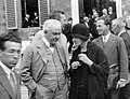 Robert A. Millikan and Marie Curie at Rome Conference on Nuclear Physics.jpg