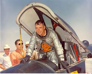 Maj. Robert M. White in an X-15 cockpit at Edwards Air Force Base, Calif.<br />from https://en.wikipedia.org/wiki/File:Robert_M._White.jpg 297px-Robert_M._White.jpg