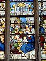 Roberval (60), église Saint-Remy, croisillon sud, verrière n° 6, 1er régistre, milieu - Adoration des bergers.JPG