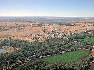 Rolleston, Queensland - Aerial view of Rolleston, June 2017