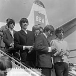 Rolling Stones at Amsterdam Airport Schiphol (1964).jpg