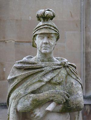 Gaius Suetonius Paulinus - Statue of Gaius Suetonius Paulinus on the terrace of the Roman Baths in Bath, Somerset