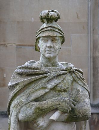 Gaius Suetonius Paulinus - Statue of Gaius Suetonius Paulinus on the terrace of the Roman Baths in Bath, Somerset