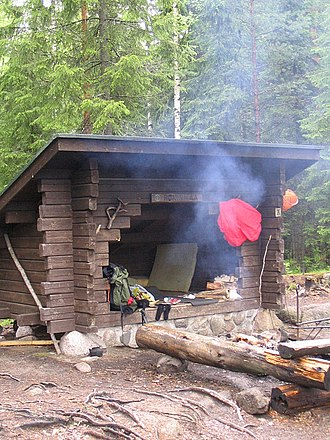 Lean-to - A laavu in the Pukala recreational forest
