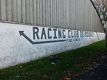 Photo d'un mur portant l'inscription Racing Club de Roubaix.
