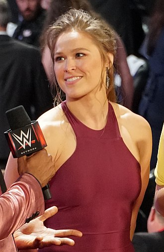 Ronda Rousey - Rousey at the 2018 WWE Hall of Fame induction ceremony