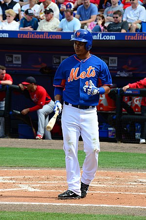 Ruben Tejada, NY Mets, Spring Training, March 7, 2014.jpg