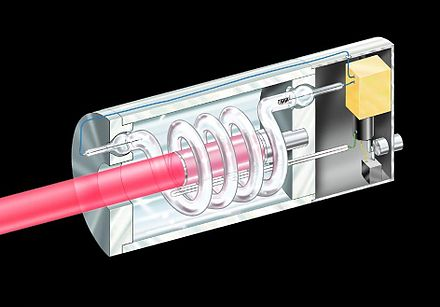 Diagram of the first ruby laser. Ruby laser.jpg