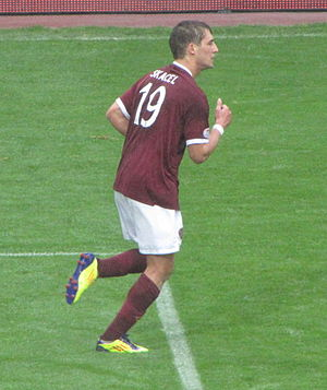 Rudi Skácel - Skácel playing for Hearts in 2011
