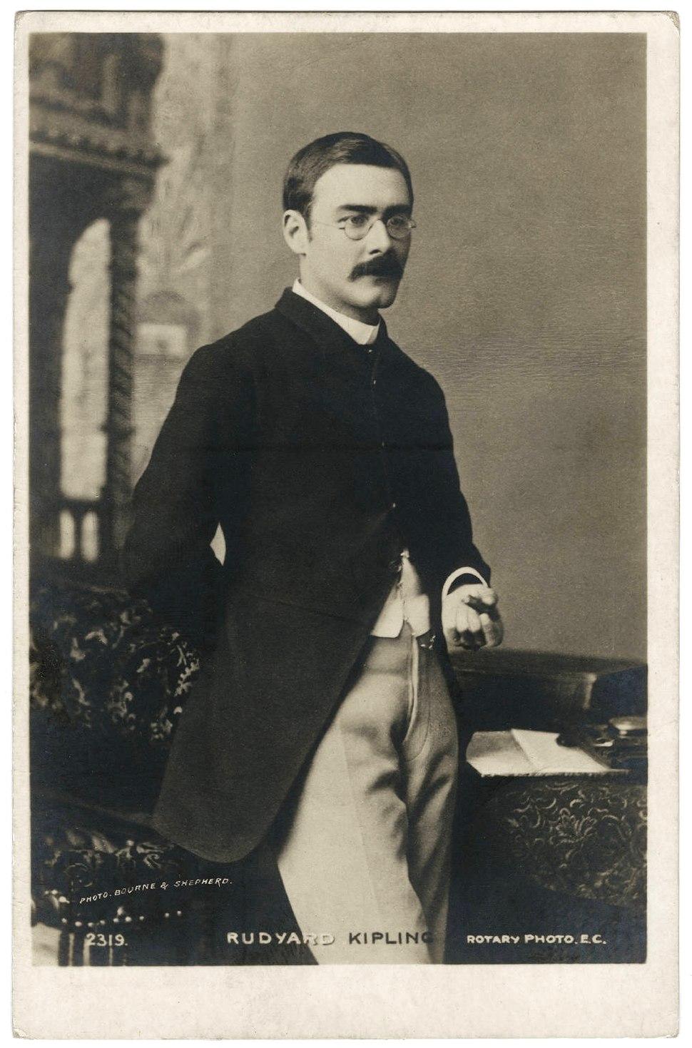 Rudyard Kipling three quarter length portrait