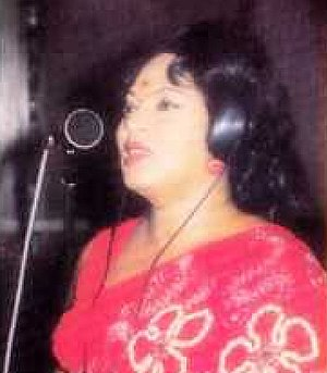 Rukmani Devi - Rukmani Devi sings before public audience at Dewalapola in may 1976.